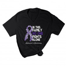 No One Fights Alone V-Neck